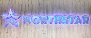 custom lighted lobby sign
